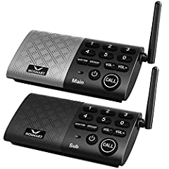 【SIMPLE TO USE BUT POWERFUL】- The intercom can be used out of box, then plug and begin communicating. It's truly that simple and hassle free. Monitor function can be monitored continuously. Group function (conference call) can call all paired interco...
