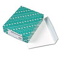 Quality Park Redi-Strip 小冊子封筒 - カタログ - #9 幅1/2~9インチ x 長さ12インチ - 28ポンド - 剥がして密封 - 波状 - 100枚/箱 - ホワイト