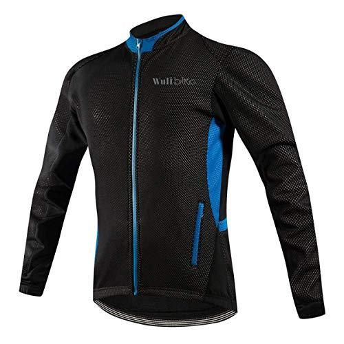 logas Giubbino Uomo Invernale Ciclismo Giacca Idrorepellenti MTB Cappotto Antivento Bici Termico