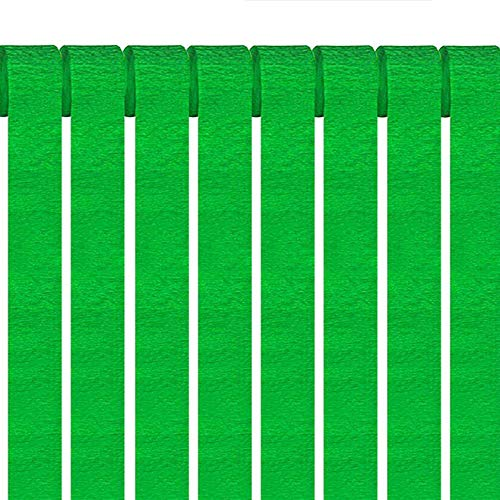ZOOYOO Green Party Streamers Crepe Paper Streamers Decorations 1.77in Wide 82ft Long 12 Rolls