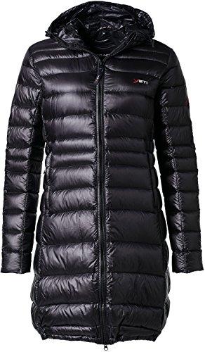 YETI Faith W's Lightweight Down Coat Damen Daunenmantel Mantel, Black, Größe L