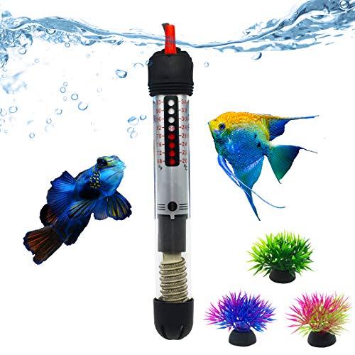 Bnzaq Fish Tank Aquarium Heater - Adjustable Temperature Submersible Thermostat Heater,25W/50W/100W/150W/200W/300W