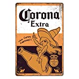 Letreros de lata retro vintage, Corona Extra Beer, Home Bar Man Cave Diner...