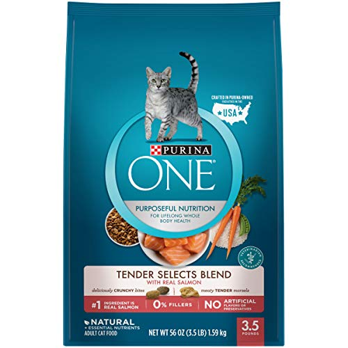 Purina ONE Natural Dry Cat Food, Tender Selects Blend With Real Salmon - 3.5 lb. Bag