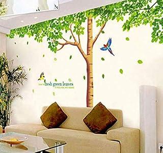 Wall Stickers Creative Fresh Green leaves Shape Design Decoration Wall Sticker