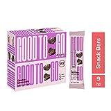 GOOD TO GO - Barras masticables doble chocolate, caja de 9 unidades - Sin gluten, con certificación Keto, aptas para Paleo, snacks bajos en carbohidratos