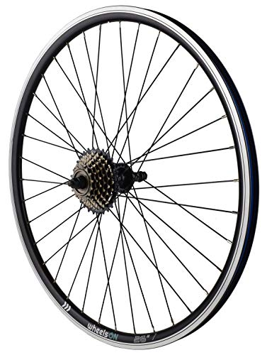 26 inch Rear Wheel + 7 speed Shimano Freewheel Hybrid/Mountain Bike Black 36H