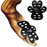 Dog Paw Protection Anti-Slip Traction Pads with Grips, 24 Pieces Self Adhesive Disposable Dog Shoes for Hardwood Floor Indoor Wear (XXL-2.48'x2.68', 61-80 lbs)