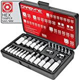 Get CARBYNE 28 Piece Tamper-Proof Hex Bit Socket Set - SAE & Metric, S2 Steel | 1/4
