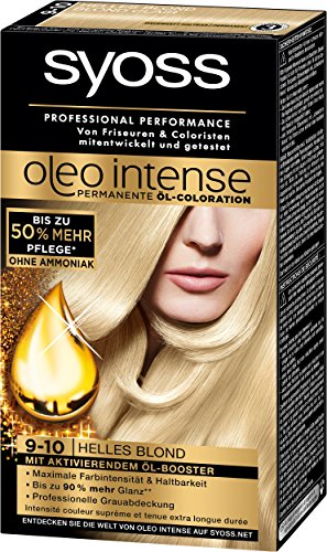 Syoss Oleo Intense Coloration 9-10 Helles Blond, 3er Pack (3 x 115 ml)
