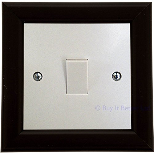 Switch Surround Frame Cover Finger Plate Contemporary Satin Black