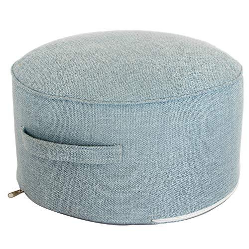 WEIYV-Barhocker ,Dreh- & Arbeitshocker Nordic Multicolor Simple Mit Handwaschbarem Stoff Niedriger Hocker Balkon Erker Tatami Futon Hocker Sitzhocker (Farbe : Blau, größe : 40 * 20cm)