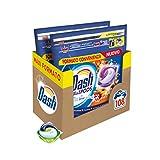 Dash Pods Allin1 - Detergente para lavadora en cápsulas ámbar, tamaño grande, 54 x 2 unidades, 108 lavados