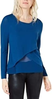 Bar III Blue Layered Look Tunic Top Shirt XXL