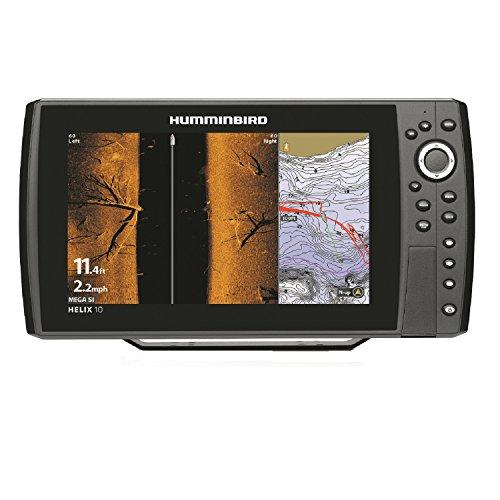 Humminbird 410120-1 Helix 10 CHIRP Mega Si GPS G2N Fishing Charts & Maps,BLACK