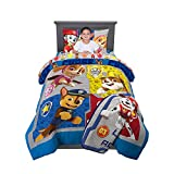 Nickelodeon Paw Patrol Super Soft Kids Bedding Set, 5 Piece Twin Size, Includes Grey Leap Into Action Throw