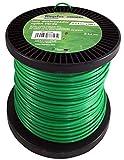 Riegolux 107642 Hilo Desbrozadora Nylon Redonda, Verde, 2.4 mm x 100 m