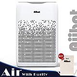 AIIBOT Purificatore d'Aria Anione, 4 Livelli di Filtrazione VS. 99,97% Batteri/Odori/Allergeni/Gas Nocivi, Sostituzione Filtro Promemoria Automatico, 4 Velocità del Vento, Ultra Silenzioso