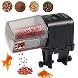 Lychee Alimentador Automático de Peces,175ML Multifuncional Comedero Peces Automático con Pantalla LCD para Acuario, Tanque de Peces y Tortuga