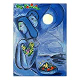 QAQTAT Marc Chagall Liebhaber Poster Malerei Leinwand