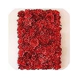 結婚式の装飾花人工牡丹の花の壁の装飾家ロマンチックな背景アーチ寝室の装飾シルクローズ壁40 * 60センチ、画像color3として