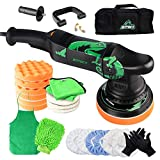 BATOCA Dual Action Polisher, 6 Inches and 700w Random Orbital Car Buffer Polisher, 6 Variable Speed DA Polisher with Foam/Wool Pads, Polish Bonnet, Microfiber Towels for Waxing,Buffing,Polishing
