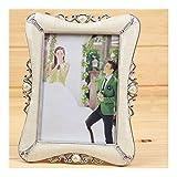 写真 誕生日プレゼント絶妙なベージュ花の形のフォトフレーム結婚式デスクトップの装飾Phictureフレームの1pcs 7インチプラスチック製のフレームの写真のportafotos(カラー:Dielianhua黄金、サイズ:7インチ) フォトフレーム ック (Color : Xinxiangyin Silver, Size : 7 inch)