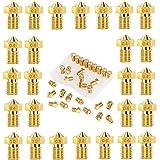 V6 Nozzle 26 unidades de boquilla M6 0,2 mm 0,3 mm 0,4 mm 0,5 mm 0,6 mm 0,8 mm 1,0 mm para 1,75 mm filamento impresora 3D B. Anycubic i3 Mega Chiron Prusa i3 MK3/MK3S Anet A8 CTC Printer