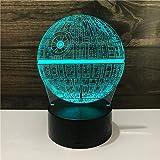 LED ahorro de energía 3D noche luz niña fantasía colorido toque castillo lámpara de mesa cumpleaños regalo de vacaciones-Colorido_Planeta