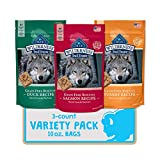 Blue Buffalo Wilderness Trail Treats High Protein Grain Free Crunchy Dog Treats Biscuits Duck, Turkey, & Salmon Recipes 10-oz Variety Pack, 3ct