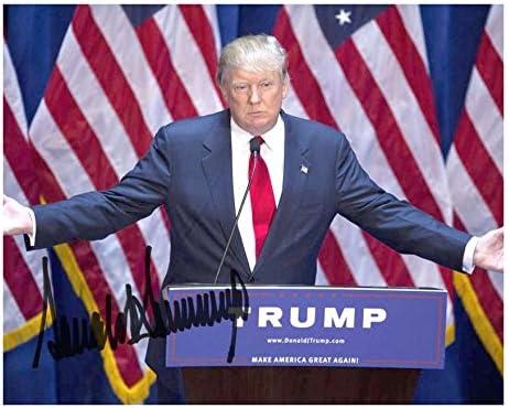 Photo Cheap Popular shop is the lowest price challenge sale Donald Trump Autograph Signed 10 x 8