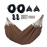 LA SIESTA - Modesta Arabica–Hamaca clásica Individual de Hamaca de algodón orgánico Incluye Set de Montaje