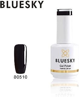 Bluesky Gel Nail Polish (80510), Black, 15 milliliters