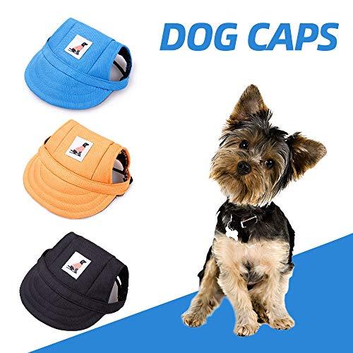 Festnight Casquillos para Perros Sombrero Deportivo para Mascotas con Orificios para los oídos Hebilla Ajustable Gorras para Visera de béisbol para Perros pequeños