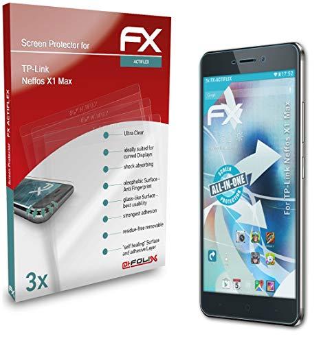 atFolix Schutzfolie kompatibel mit TP-Link Neffos X1 Max Folie, ultraklare & Flexible FX Bildschirmschutzfolie (3X)