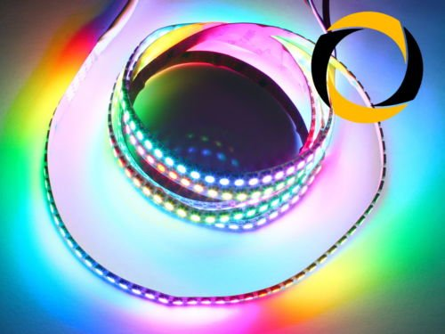 Preisvergleich Produktbild Ascending Composites RGB LED Stripe WS2812B LEDs (30 LEDs / m) schwarz 1 Meter