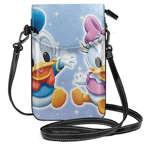 Lsjuee Womens Crossbody Bags Baby Donald Duck and Daisy Small Cell Phone Purse Wallet with Credit Card Slots