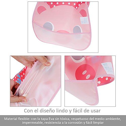 TO/_GOO Baberos Impermeables para beb/és de Silicona Baberos Unisex Secado r/ápido C/ómodos Baberos de Material de Grado alimenticio