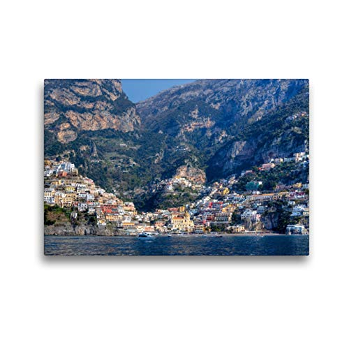 CALVENDO Premium Textil-Leinwand 45 x 30 cm Quer-Format Positano, Leinwanddruck von Joana Kruse
