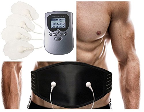 Smart 10 Modes Pain Relief Electric Impulse Massager for Back | Best Weight Loss Waist Belt PM10AB + Extra Back Brace Support Belt Plus | Best Back Pain Belt FDA Cleared HealthmateForever