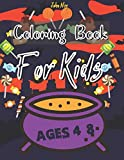Coloring Book For Kids Ages 4-8: Color By Number Activity Book