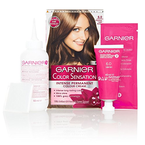 3x Garnier Color Sensation Intense Permanente Farbe Creme 6.0Precious hellbraun