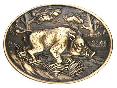 Unbekannt Gürtelschliesse Jagd - Wildschwein im Wald II