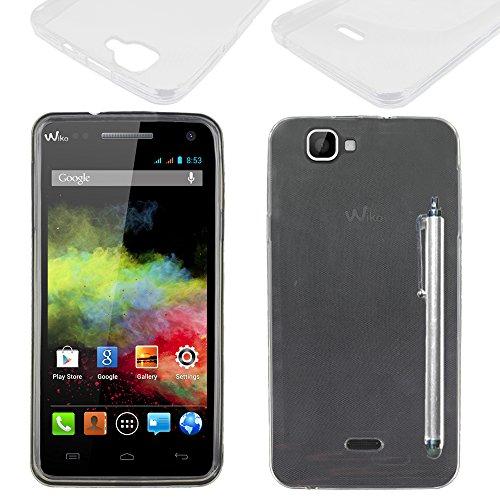 ebestStar - kompatibel mit Wiko Rainbow Hülle Rainbow 4G Handyhülle [Ultra Dünn], Premium Durchsichtige Klar TPU Schutzhülle, Soft Flex Silikon + Stift, Transparent [Phone: 146 x 74 x 10mm, 5.0'']
