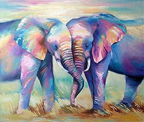 Puzzle 300 Piezas para Adultos De Madera Niño Rompecabezas Elefantes de Dos Colores Juego Casual De Arte DIY Juguetes Regalo Interesantes Amigo Familiar Adecuado 38x26cm