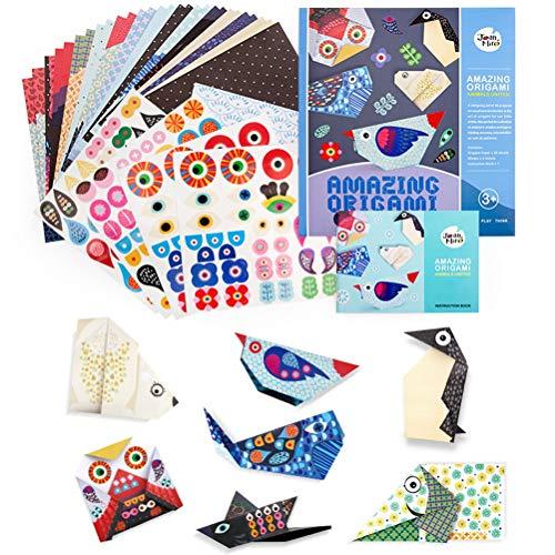 Yuanzi - Kit de papel origami para manualidades (28 piezas)