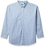 Izod Big and Tall Advantage Performance Plaid Long Sleeve Stretch Button Down Shirt Camisa Abotonada, Mar Turca, 4XL para Hombre