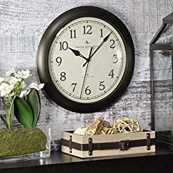 FirsTime & Co. Slim Wall Clock, 11, Oil Rubbed Bronze