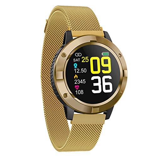 YDK Reloj Deportivo Inteligente Q10, Pantalla a Color de Touch 1.3, Ritmo cardíaco, presión Arterial, monitoreo del sueño, Relojes multifuncionales a Prueba de Agua y Relojes de Mujer,C