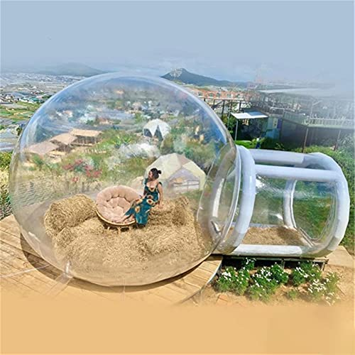 AAADRESSES 3M / 4M / 5M Bubble Dome Zelt, Aufblasbares Transparentes Zelt, Iglu Dome Event Zelt, füR DIY Home Camping Partys, Hochzeiten, Ausstellungen,Clear,Ball Diameter 4M